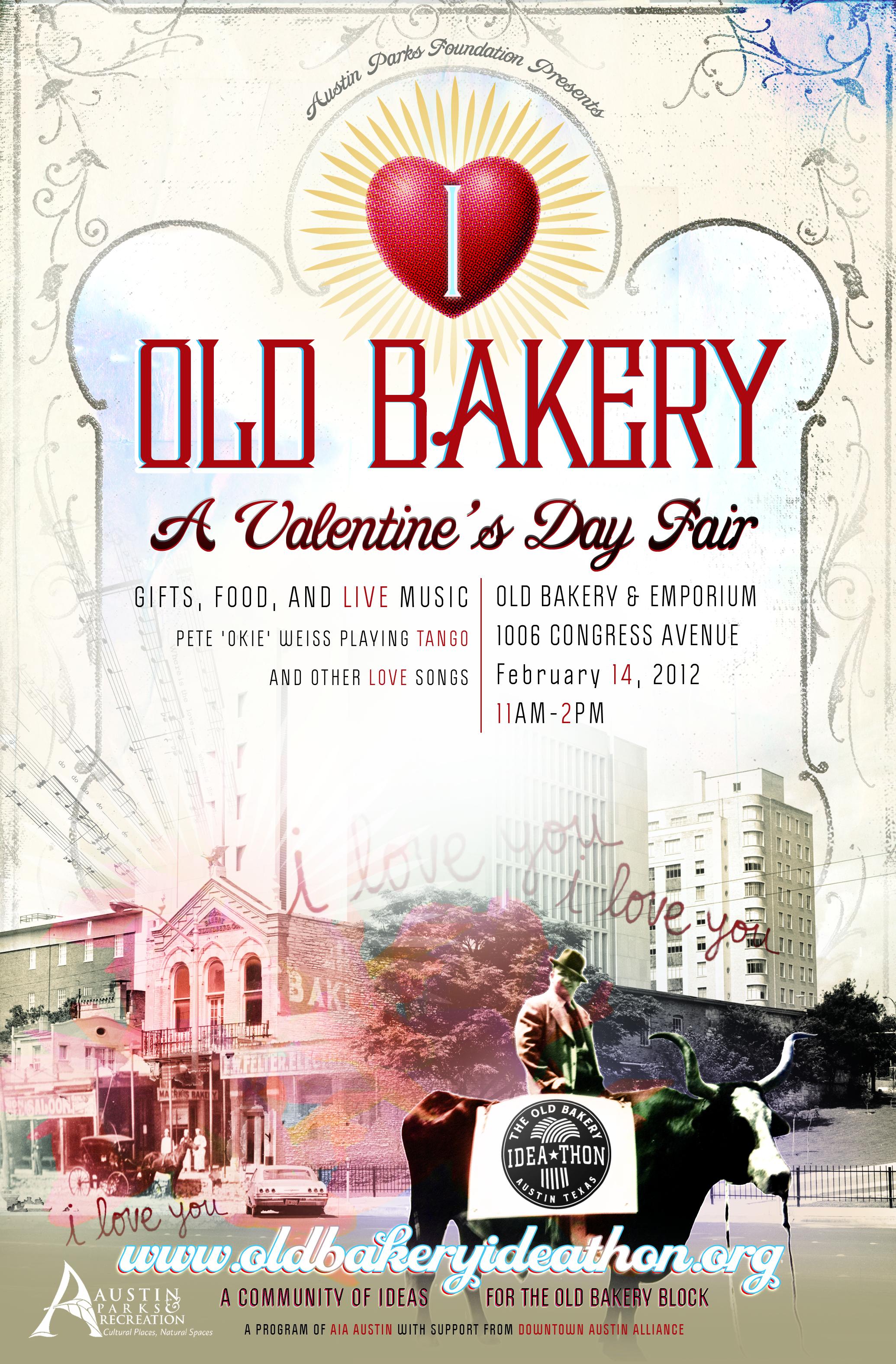 Old Bakery Valentine S Day Poster Eye Like Design