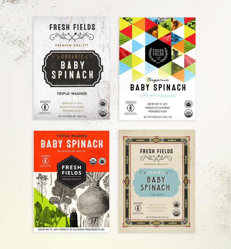 Fresh Fields Logo and Branding Design Options