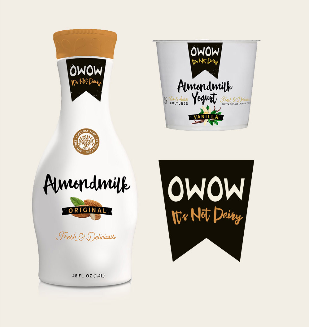 Whole Foods Almond Milk Packaging Design